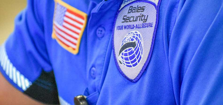 Bales Security staff in uniform, providing security services to clients in Clearwater, FL.