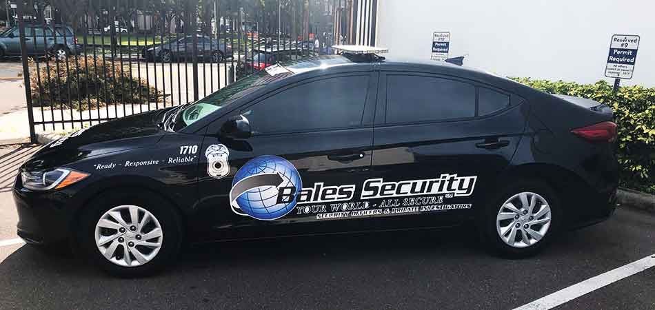 Patrol vehicle posted at the entrance of a commercial property located in Tampa, FL.